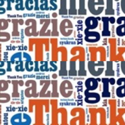 Thank You, Danke, Grazie